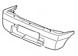Stoßstange hinten [7410V1] PEUGEOT-ORIGINAL-ERSATZTEIL