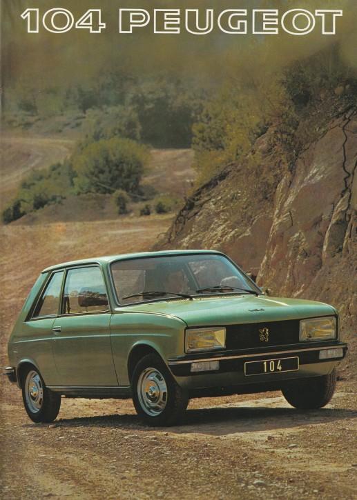 Peugeot 104ZS Vorstellung 1977
