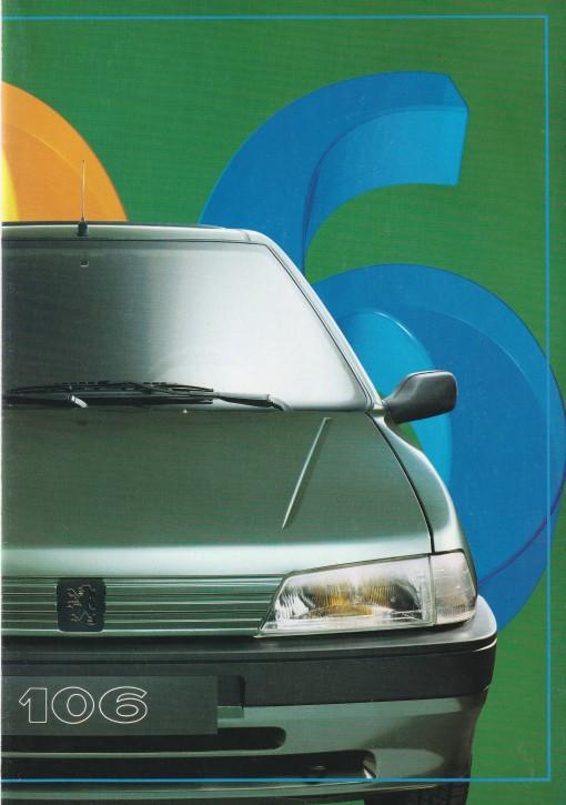 """Prospekt Peugeot 106 """"P O S T E R"""" 1992"""