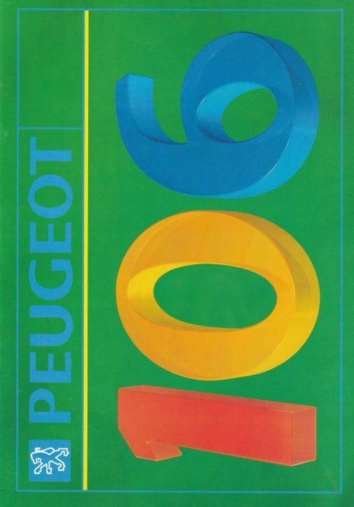 """Prospekt Peugeot 106 """"Neue Modelle"""" 1992"""