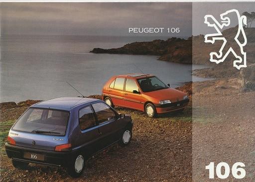 Prospekt Peugeot 106 Modellübersicht 1993