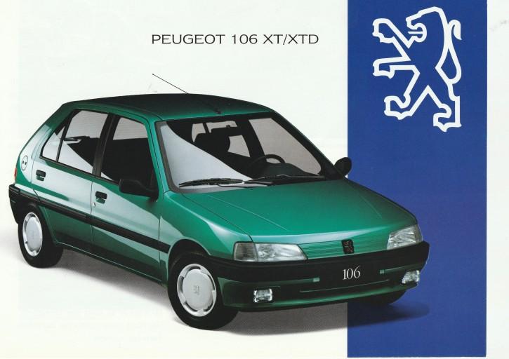 Prospekt Peugeot 106XT 1993