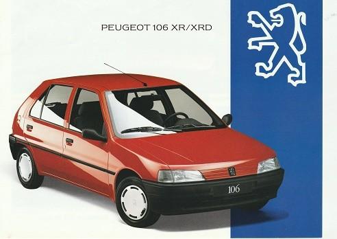Prospekt Peugeot 106XR 1993