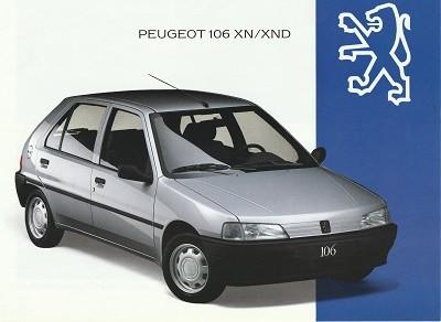 Prospekt Peugeot 106XN 1993