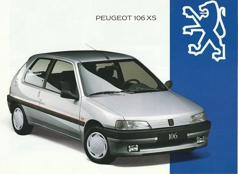 Prospekt Peugeot 106XS 1993