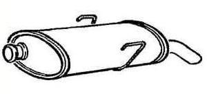 Schalldämpfer hinten [172672]