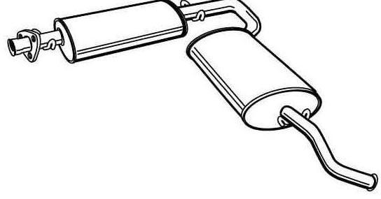Schalldämpfer hinten [1726A2]
