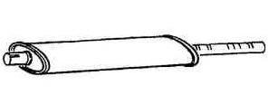 Schalldämpfer mitte [172814]