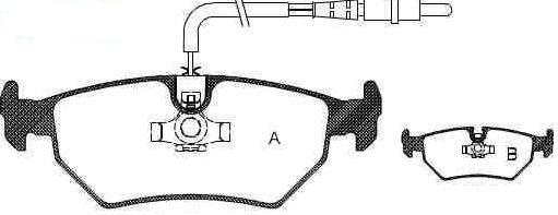 Satz Bremsklötze Hinterachse [425111/425112/425466]