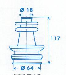 Manschette Gelenkwelle [328765]