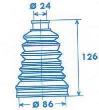 Manschette Gelenkwelle [329305]