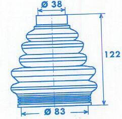 Manschette Gelenkwelle [329303]