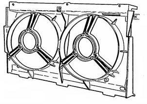 Lüftergehäuse [1308F7] PEUGEOT-ORIGINAL-ERSATZTEIL
