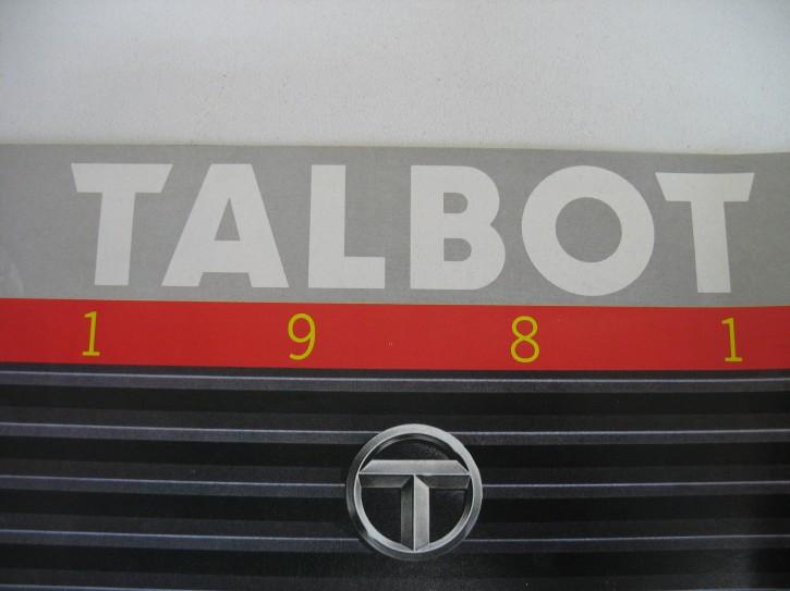 Prospekt Talbot Typenübersicht 1981