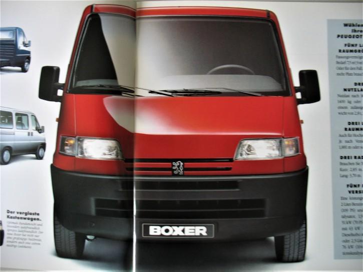Prospekt Peugeot BOXER Vorstellung 1994