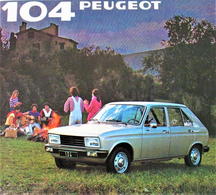 Prospekt Peugeot 104 Übersicht 1981