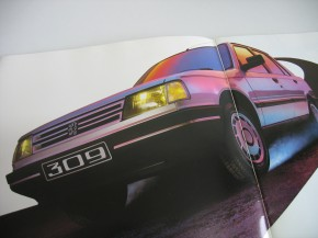 Prospekt Peugeot 309 Typen-Übersicht Modelle 1986