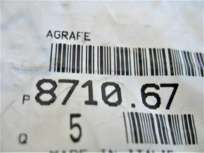 5 Stück Halteklammer Türdichtung [871067]  PEUGEOT-ORIGINAL-ERSATZTEIL