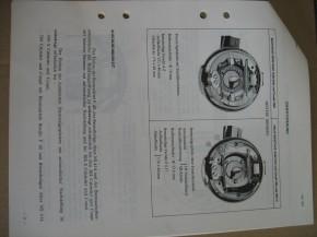 PEUGEOT-BULLETINS Technische Änderungen   1972-1973