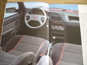 """Prospekt Peugeot Vorstellung 309""""GTI"""" 1987"""